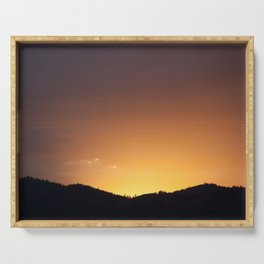 Golden Glow of Sunset Serving Tray