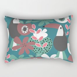 Toucans with apples and strawberries Rectangular Pillow