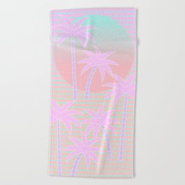 Hello Miami Sunrise Beach Towel
