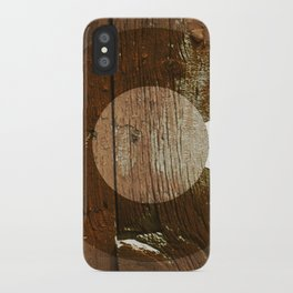 Rustic brown wooden Colorado flag iPhone Case