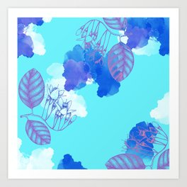 Botanical 3 - Exotic Floral Layered Abstract Art Art Print
