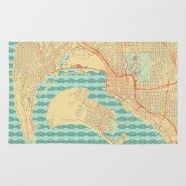 San Diego Map Retro Rug