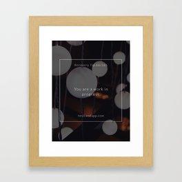 Recovery Tip #66 Framed Art Print