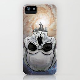 skull-attle iPhone Case