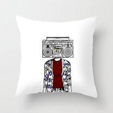 Radio daze Throw Pillow