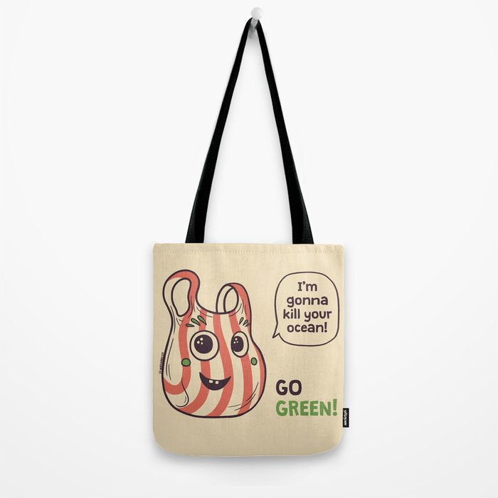 No to plastic bags! Tote Bag