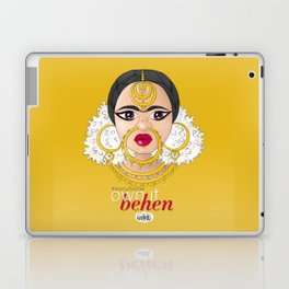 Hashtag Team Unibrow - Own It Behen (*Sister) Laptop & iPad Skin