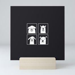 dog dog dog dog Mini Art Print