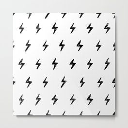 Lightning Bolt Pattern Metal Print