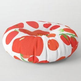 Tomato Harvest Floor Pillow