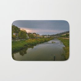 Evening at the river Bath Mat
