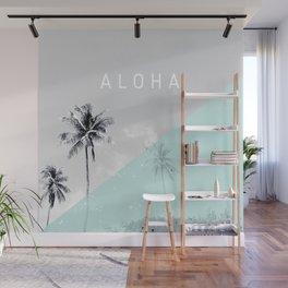 Island vibes retro - Aloha Wall Mural