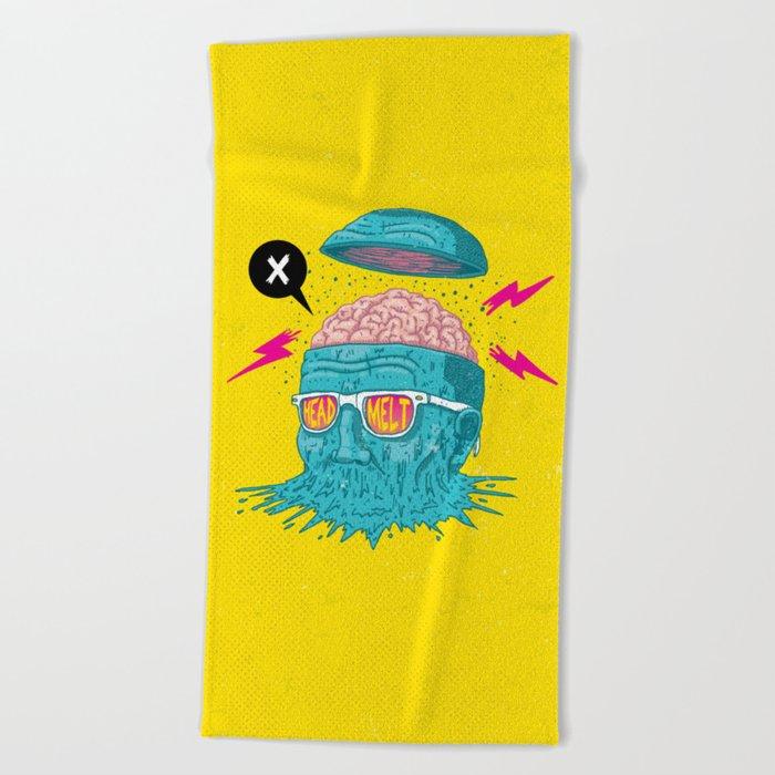 Head Melt Beach Towel