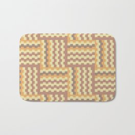 Geometric crisscross pattern Bath Mat