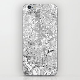Washington D.C. White Map iPhone Skin