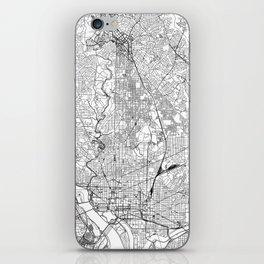 Washington D.C. White Map iPhone Skin