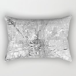 Indianapolis White Map Rectangular Pillow