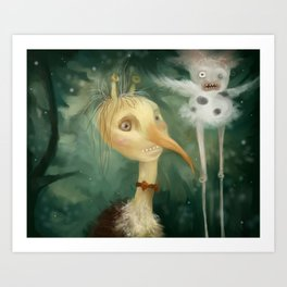 Private party in the forest Art Print