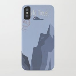 World Travel - Mountains iPhone Case