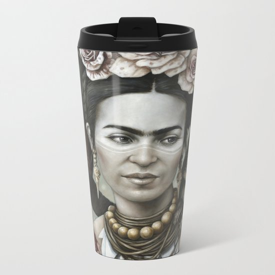 Hommage à Frida Kahlo 3 Metal Travel Mug