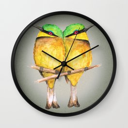 Little bee-eaters Wall Clock