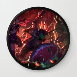 Skin Zombie Team Wall Clock