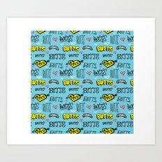 Butts Pattern Art Print