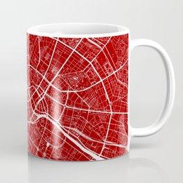 Berlin, Germany, City Map - Red Coffee Mug