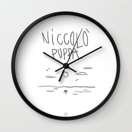 FromRome with Love Wall Clock