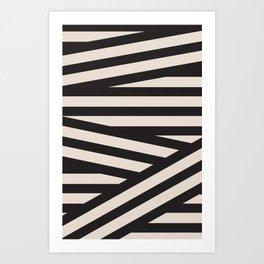 Juve Black and White Stripes Art Print