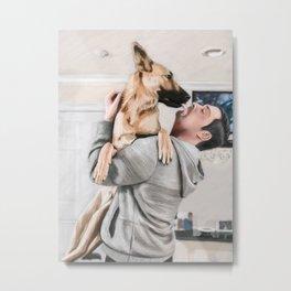 Puppy Kisses Metal Print