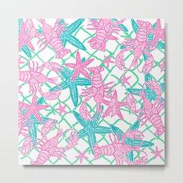 Nautical Starfish Metal Print