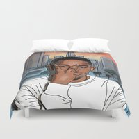 kendrick lamar Duvet Covers featuring MAAD CITY by Fake Wealth