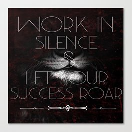 Let Success Roar! Canvas Print