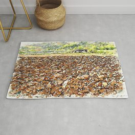 Hortus Conclusus: clods of earth and farmhouse Rug