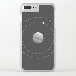 Two Moons of Mars Clear iPhone Case