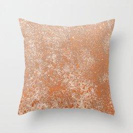 Whispering Wall, Terracotta Throw Pillow