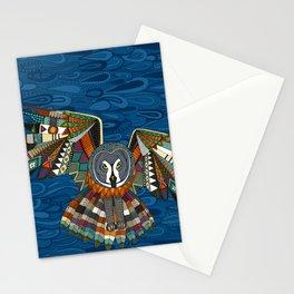night owl blue Stationery Cards