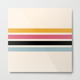 Yoshiharu - Classic Pop Culture Retro Stripes Metal Print