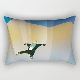 NASA Retro Space Travel Poster #6 Rectangular Pillow