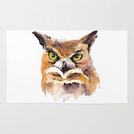 Owl Watercolor Rug