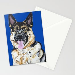 Portrait of Sam the German Shepherd Stationery Cards
