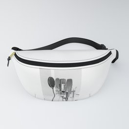 Microphone black and white Fanny Pack