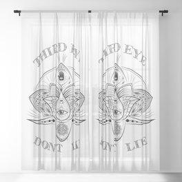 Third Eye Don't Lie Sheer Curtain