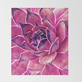 Suculenta Violeta Throw Blanket