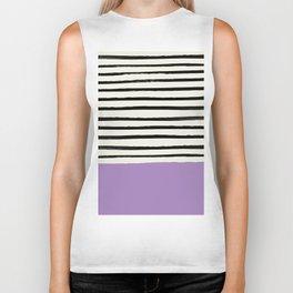 Lavender x Stripes Biker Tank