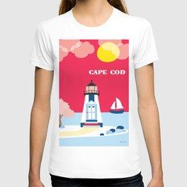 Cape Cod, Massachusetts - Skyline Illustration by Loose Petals T-shirt