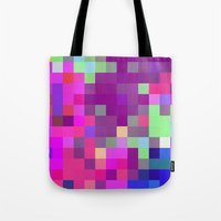 pixel art Tote Bags featuring Pixel by FABIAN•SMITH