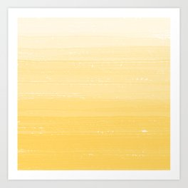 Sunshine Yellow Paint Gradient Art Print