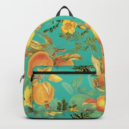 Vintage & Shabby Chic - Summer Golden Apples Flowers Garden Backpack